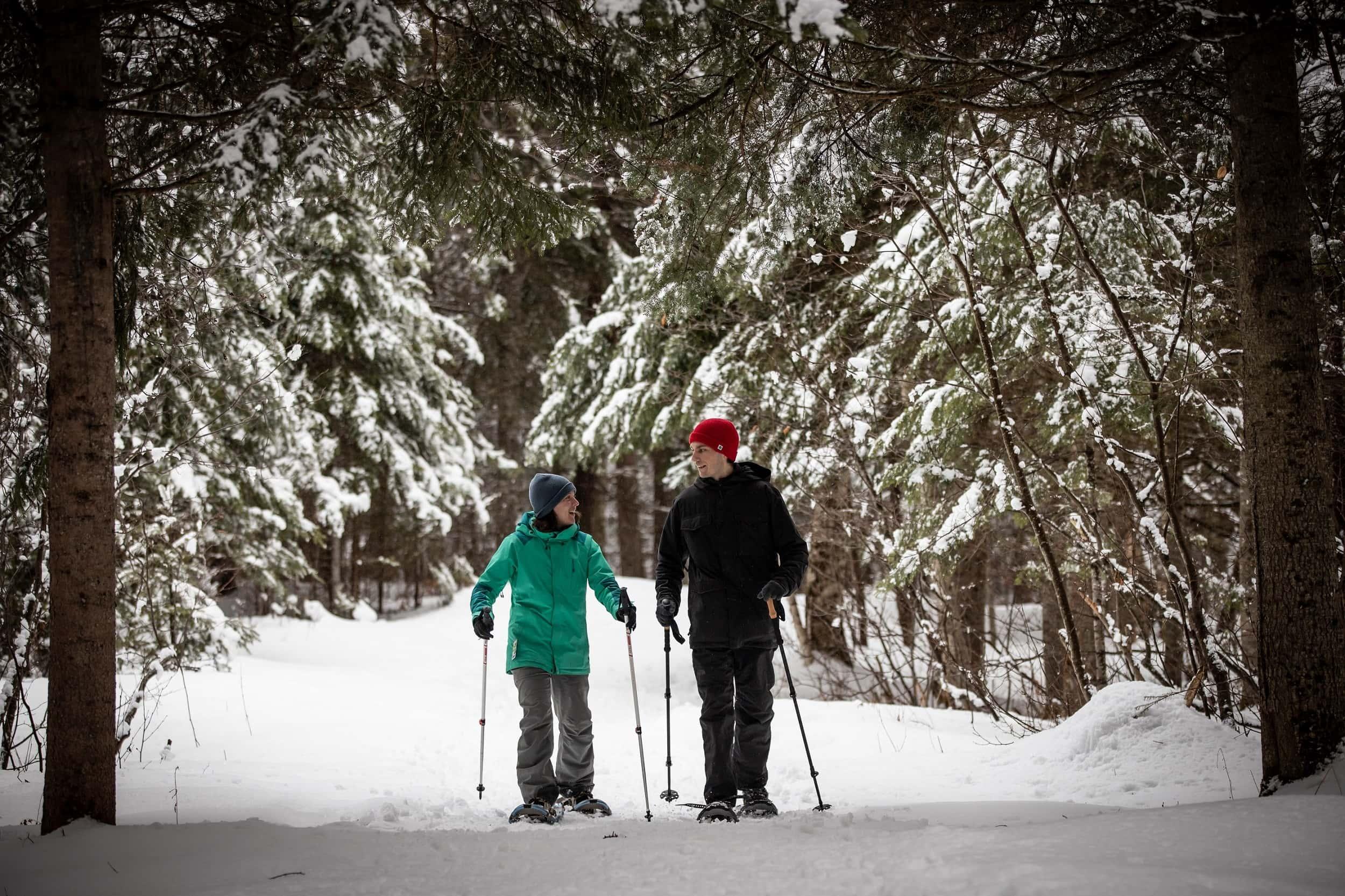 Snowshoe Domaine Saint-Bernard Mont-Tremblant - activity | D-Tour