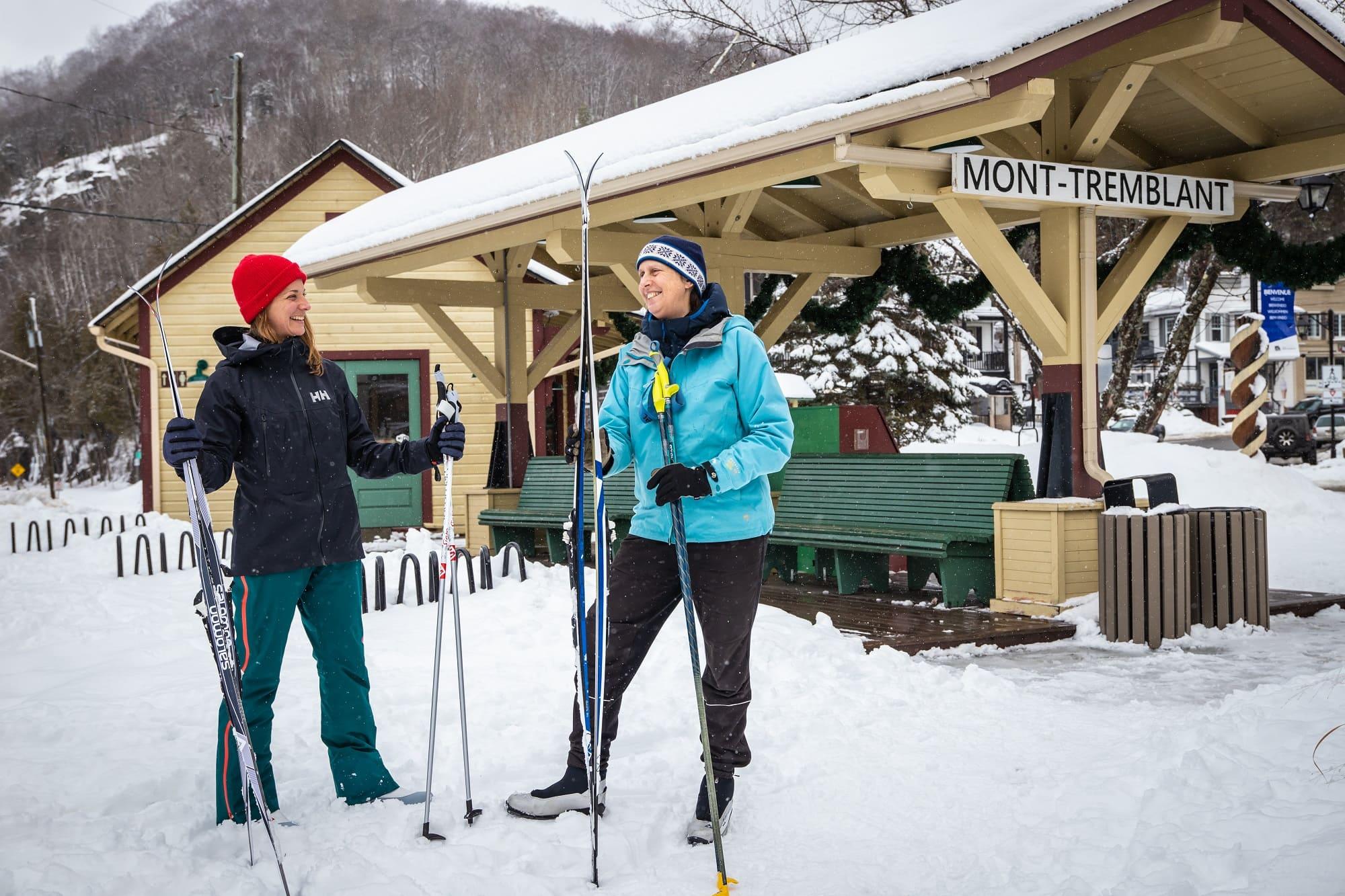 Ski de fond Gare Village P'tit Train du Nord - activités | D-Tour