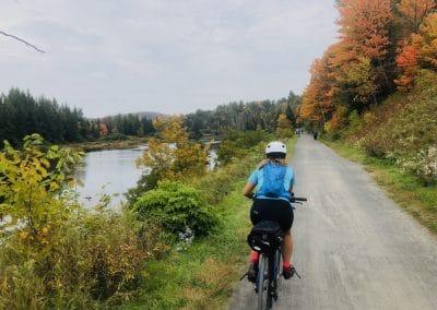 Vélo p'tit train du nord automne